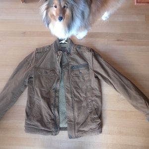 Levi's Men's  Sherpa lined Military Jacket